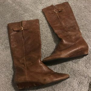 Steve Madden Intyce Cognac Leather Boots, Size 8